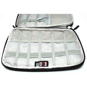 BUBM Gadget Organizer Bag Portable Case - DIS-L (ORIGINAL) - Black/Gray - 3