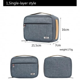 BUBM Tas Organizer Gadget dan Aksesoris Single Layer - DMS-S (ORIGINAL) - Gray - 3