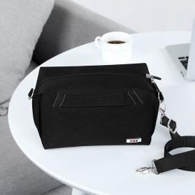 BUBM Tas Selempang Messenger Bag Gadget Organizer - XKB - Black - 7