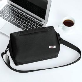 BUBM Tas Selempang Messenger Bag Gadget Organizer - XKB - Black - 8
