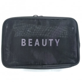 BUBM Tas Pouch Travel Organizer Toiletry Bag - LXXS-B (ORIGINAL) - Black