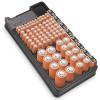 Casing & Kotak Baterai - BUBM Case Organizer Baterai Storage Box with Tester - BTO-01 - Black