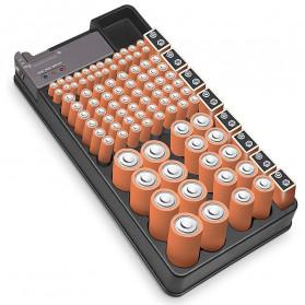 BUBM Case Organizer Baterai Storage Box with Tester - BTO-01 - Black