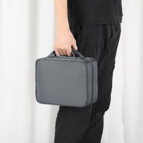 BUBM Tas Pouch Travel Organizer Toiletry Bag - LXXS-C (ORIGINAL) - Dark Gray - 11