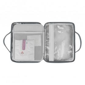 BUBM Tas Pouch Travel Organizer Toiletry Bag - LXXS-C (ORIGINAL) - Dark Gray - 5