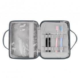BUBM Tas Pouch Travel Organizer Toiletry Bag - LXXS-C (ORIGINAL) - Dark Gray - 6