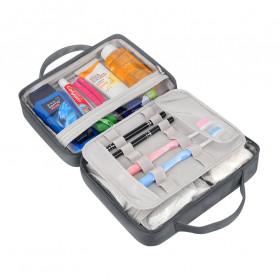 BUBM Tas Pouch Travel Organizer Toiletry Bag - LXXS-C (ORIGINAL) - Dark Gray - 7