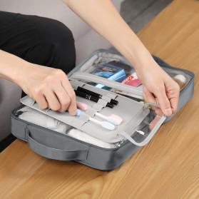 BUBM Tas Pouch Travel Organizer Toiletry Bag - LXXS-C (ORIGINAL) - Dark Gray - 8