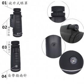 Panda Teropong Monokular Panda 35x50 Focus Lens Adjustable Telescope - Black - 8