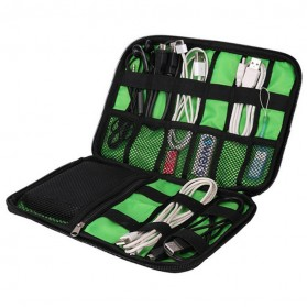 BUBM Gadget Organizer Bag Portable Case - DIS-L (Replika 1:1) - Black/Green