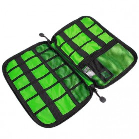 BUBM Gadget Organizer Bag Portable Case - DIS-L (Replika 1:1) - Black/Green - 2