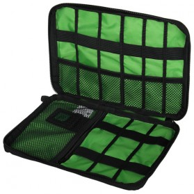 BUBM Gadget Organizer Bag Portable Case - DIS-L (Replika 1:1) - Black/Green - 3