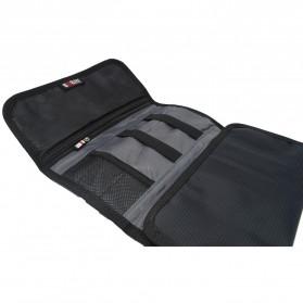 BUBM Tas Gadget Organizer Model Gulung - Roll Up - Black - 3