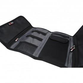 BUBM Tas Gadget Organizer Model Gulung - Roll Up - Black - 4