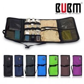 BUBM Tas Gadget Organizer Model Gulung - Roll Up - Black - 7