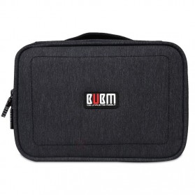 BUBM Tas Gadget Travel Organizer Double Layer - DPS-S - Black