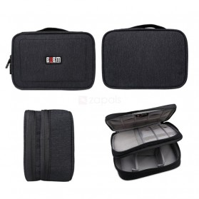 BUBM Tas Gadget Travel Organizer Double Layer - DPS-S - Black - 3