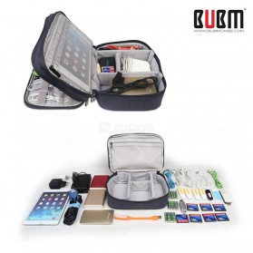 BUBM Tas Gadget Travel Organizer Double Layer - DPS-S - Black - 4