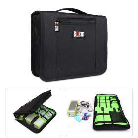 BUBM Tas Gadget Travel Organizer - BSL - Black/Green - 2