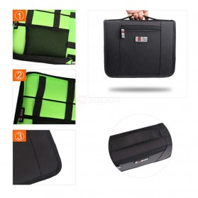 BUBM Tas Gadget Travel Organizer - BSL - Black/Green - 4