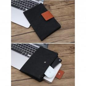 Tas Gadget Organizer Double Layer Foldable - Black - 2