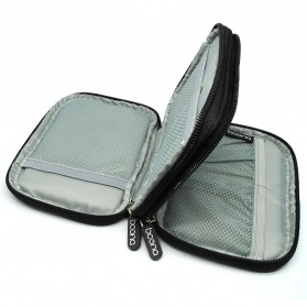 BOONA Tas Gadget Organizer Double Layer Size S - Black - 2