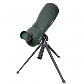 SVBONY Spotting Monocular Telescope 25-75X 70mm with Tripod - SV28 - Black/Green