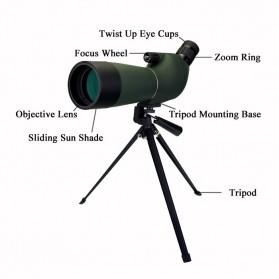 SVBONY Spotting Monocular Telescope 25-75X 70mm with Tripod - SV28 - Black/Green - 3
