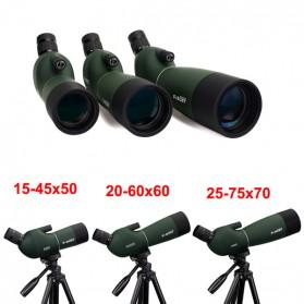 SVBONY Spotting Monocular Telescope 25-75X 70mm with Tripod - SV28 - Black/Green - 4