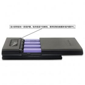 DIY Power Bank Case 4x18650 2 USB Port + Lightning Port with LED Flashlight - M3 - Black - 3
