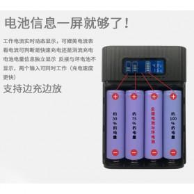 DIY Power Bank Case 4x18650 2 USB Port + Lightning Port with LED Flashlight - M3 - Black - 6