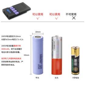DIY Power Bank Case 4x18650 2 USB Port + Lightning Port with LED Flashlight - M3 - Black - 8