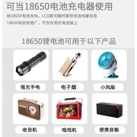 DIY Power Bank Case 4x18650 2 USB Port + Lightning Port with LED Flashlight - M3 - Black - 10