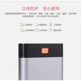 Rovtop DIY Power Bank Aluminium Case 4x18650 2 Port + Display - PB-YW - Silver - 7