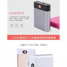 Rovtop DIY Power Bank Aluminium Case 4x18650 2 Port + Display - PB-YW - Silver - 8