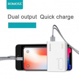 Romoss Sense 4 Mini Power Bank 10000mAh - PPH10 (Replika 1:1) - White - 2
