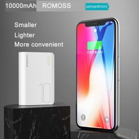 Romoss Sense 4 Mini Power Bank 10000mAh - PPH10 (Replika 1:1) - White - 5