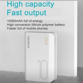 Romoss Sense 4 Mini Power Bank 10000mAh - PPH10 (Replika 1:1) - White - 7