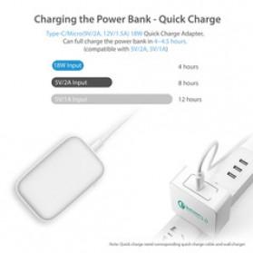 GARAS Power Bank USB Type C PD Charging QC3.0 10000mAh - PP-1003 - Black - 3