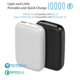 GARAS Power Bank USB Type C PD Charging QC3.0 10000mAh - PP-1003 - Black - 4