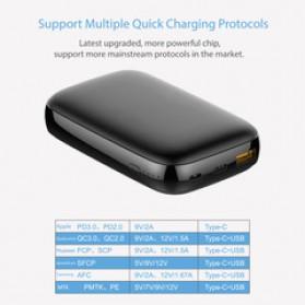 GARAS Power Bank USB Type C PD Charging QC3.0 10000mAh - PP-1003 - Black - 5