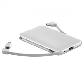 ANKUX Power Bank Built in Cable 3in1 5000mAh - PP510 - White