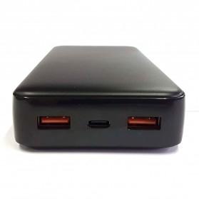 GARAS Power Bank USB Type C PD Charging QC3.0 20000mAh - PP-2007 - Black - 2