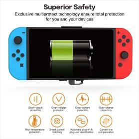 GuliKit Power Bank Nintendo Switch USB Type C 10000mAh - M10P - Black - 5