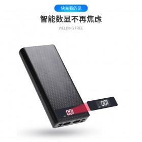 ROVTOP DIY Power Bank Case 8x18650 2 Port + Display - X8 - Black - 7