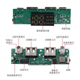 ROVTOP DIY Power Bank Case 8x18650 2 Port + Display - X8 - Black - 8