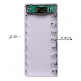 ROVTOP DIY Power Bank Case 8x18650 2 Port + Display - X8 - Black - 9
