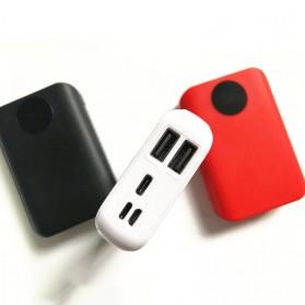 IXUANER DIY Power Bank Case 3x18650 2 USB Port + 3 Input Type-C Lightning Micro USB - IR24 - Black - 3