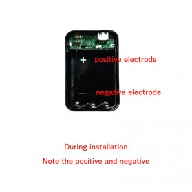 IXUANER DIY Power Bank Case 3x18650 2 USB Port + 3 Input Type-C Lightning Micro USB - IR24 - Black - 4