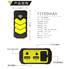 WUYUANYU Power Bank Car Jump Starter Emergency 10000mAh 600A 12V - HYY-A009 - Black/Yellow - 4